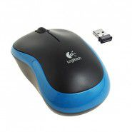 Logitech M185 Wireless Mouse Black and Blue