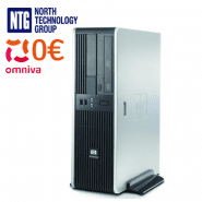 Lietots HP DC5750 SFF dators ar AMD divkodolu procesoru, 2GB RAM, 80GB HDD, Windows XP