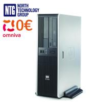 Lietots HP DC5750 SFF dators ar AMD divkodolu procesoru, 2GB RAM, 80GB HDD, Windows XP