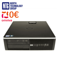 Lietots HP Compaq 8000 Elite SFF Core 2 Duo E7500 (2x 2.93GHz), 4GB DDR3 RAM, 250GB HDD, DVD-ROM, Windows 7 Pro