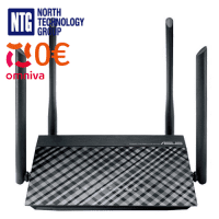 Wireless-AC1200 Router ASUS with four external antennas 1200MBPS 10/100 Dual-band RT-AC1200