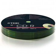TDK CD-R 700MB/80min 52x Matt Silver Recordable matricas 10 gab. spindle