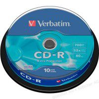 Verbatim CD-R 80/700MB 52x Extra Protection matricas 10 gab.