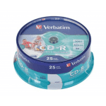 Verbatim CD-R 700MB 80min 52x AZO Printable matrica / disks 25 gab.