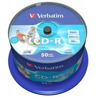 Verbatim CD-R 700MB 80min 52x AZO Printable matrica / disks 50 gab.