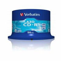 Verbatim CD-R 80min/700MB 52x disc with AZO crystal surface layer, 50 pc.