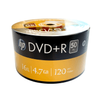 HP DVD+R 4.7GB 16x 120min disc, 1 pc.