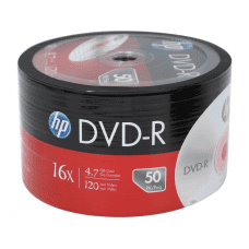 HP DVD-R 4.7GB 16x 120min disc, 50 pc.