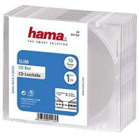 Hama 5.2mm CD slim transparent box, single 1 pc.