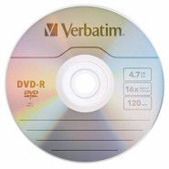 Verbatim DVD-R 4.7 GB 16x Matt Silver Azo Surface 1 gab.