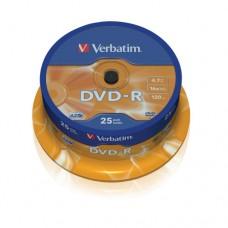 Verbatim DVD-R 4.7 GB 16x Matt Silver Azo Surface 25 pc.