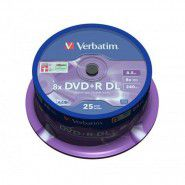 Verbatim DVD+R DL 8x 8.5GB/240min Double Layer Printable matricas 25 gab. cake box