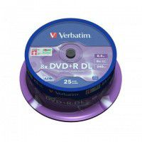 Verbatim DVD+R DL 8x 8.5GB/240min Double Layer Printable matricas 25 gab. cake box