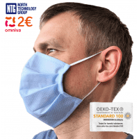 Medical face mask, conforms to OEKO-TEX Standard 100, 1 pcs.