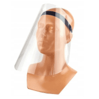 Antibacterial face mask, face shield, reusable visor from viruses and bacteria with adjustable elastic band, 1 pc.