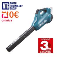 Makita 18V LXT X2 54m/s 13.4m³/min blower with BL - brushless motor (Body Only - without battery and charger), blue, DUB362Z
