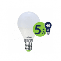 Leduro LED G45 bulb 5W 400lm 360° E14 2700K, 1 pc.