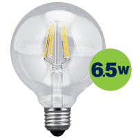 Leduro LED Globe Filament bulb 6.5W 806lm 360° E27 2700K, 1 pc.