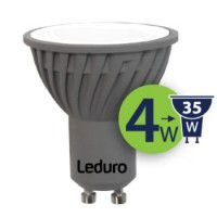 Leduro LED PAR16 bulb 4W 300lm 90° GU10 3000K, 1 pc.