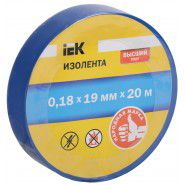 Electrical tape IEK 0.18 x 19mm, 20m, blue