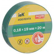 Electrical tape IEK 0.18 x 19mm, 20m, green