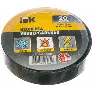 Electrical tape IEK 0.18 x 19mm, 20m, black