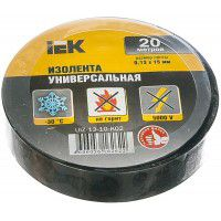 Electrical tape IEK black 0.18 x 19 mm, 20 m