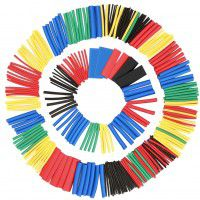 Rusee Heat Shrink Tubing Assortment 2:1 10 mm x 80 mm, 16 pc. (different colors)