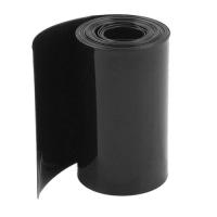 Heat shrink wrap diameter 107mm, length 100cm, black (10.7cm, 1m)