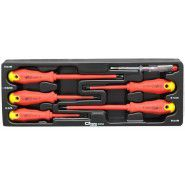 Screwdriver set C1212 for electricians, 5 pc. +1