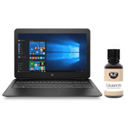 Notebook, laptop computer treatment with K2 Gravon ceramic nano protective coating (liquid glass)