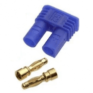 AMASS EC2-M male plug, connector 15A 500V DC supply PIN: 2, blue