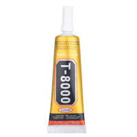 T-8000 Clear Glue T8000 Universal Clear Glue for display, LCD, LED, touch panel, screen, laptop frame, transparent, 15ml