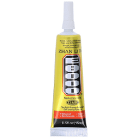 E8000 Universal Black Glue for displays, touch panels, screens, laptop frames, 15 ml