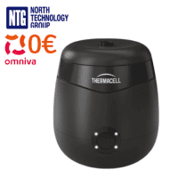 Thermacell Rechargeable Mosquito Repeller, anti-insect device, 12-hour refill kit (repellent), E55