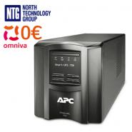 APC Smart-UPS Uninterruptible Power Supply LCD 230V, refurbished (UPS) SMT750I 750VA 500W + 2x MegaBAT MB7.2-12 (12V 7Ah/7.2Ah) VRLA lead–acid battery