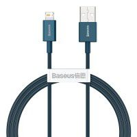 Baseus Superior Series Fast Charging Data Cable PD 20W Lightning to USB 2.0 male cable 2.4A, blue, CALYS-A03, 1m