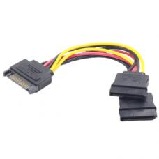 Gembird SATA power splitter cable SATA male to 2x SATA female, CC-SATAM2F-01, 0.15m