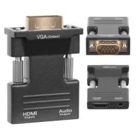 HDMI to VGA converter, Audio, Full HD Black
