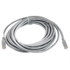 LAN Patch Cord RJ45, network / internet cable, gray, 5m