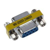 D-SUB 9-pin female mini adapter, silver