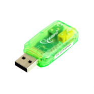 Gembird USB sound card Virtus, adapter, light green, SC-USB-01