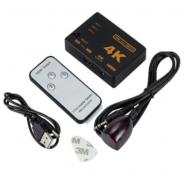 Ultra HD 4K 3x HDMI splitter, switch with remote control + Pilot 9709