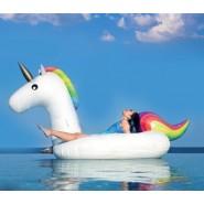 Inflatable mattress, XXL swim ring Unicorn, 280x120x130cm