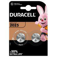 Duracell Electronics 2025 DL2025/CR2025 ECR2025 3V Lithium baterija 2 gab.