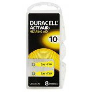 Duracell Activair 10 PR70 1.4V Hearing Aid Zinc-Air batteries, made in Germany, 6 pc.